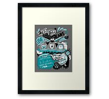 THE FROZEN CAT HEADS - LIVE!  Framed Print