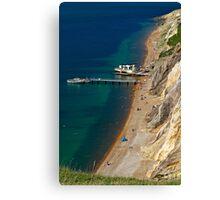 The Beach and Sand Cliffs of Alum Bay Canvas Print