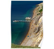 The Beach and Sand Cliffs of Alum Bay Poster