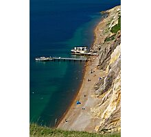 The Beach and Sand Cliffs of Alum Bay Photographic Print