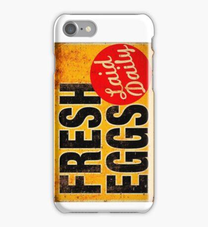 FRESH EGGS sign iPhone Case/Skin