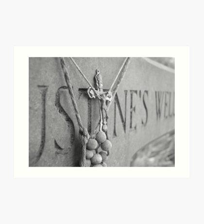 Crucifix Cry  Art Print