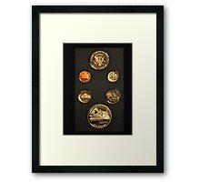 Just Coins Framed Print
