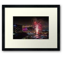 NYE Melbourne 2014 Framed Print