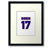 Basketball player Boris Nachamkin jersey 17 Framed Print