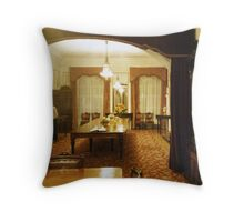 Dining Room,, Mansion House Throw Pillow