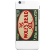Vintage Motor Oil sign iPhone Case/Skin