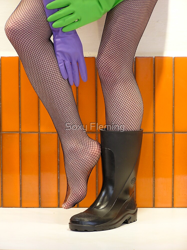 wellies and wubber gloves two by Soxy Fleming