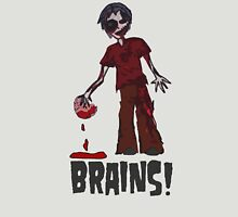 Zombie - Brains!  Womens Fitted T-Shirt