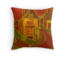 The village post office Throw Pillow