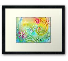 Playful Fancy of Swirls and Curls Framed Print