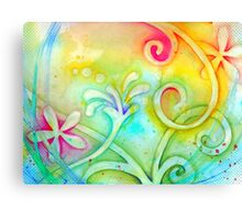 Playful Fancy of Swirls and Curls Canvas Print