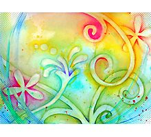 Playful Fancy of Swirls and Curls Photographic Print