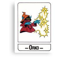 He-Man - Orko - Trading Card Design Canvas Print