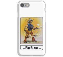 He-Man - Rio Blast - Trading Card Design iPhone Case/Skin