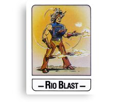He-Man - Rio Blast - Trading Card Design Canvas Print