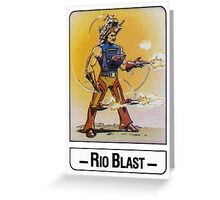 He-Man - Rio Blast - Trading Card Design Greeting Card