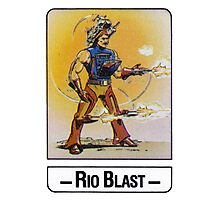 He-Man - Rio Blast - Trading Card Design Photographic Print