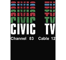 Videodrome (Civic TV Channel 83) Photographic Print