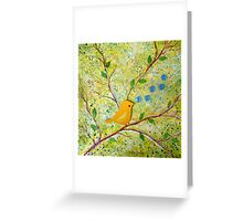 Cheerful Chirpy Songbird on a Beautiful Morning Greeting Card