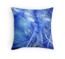 blue background Throw Pillow