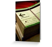 stack of tickets Greeting Card