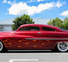 Flaming '49 Mercury by Mike Warman