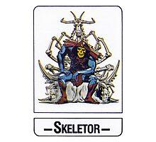 He-Man - Skeletor - Trading Card Design Photographic Print