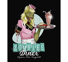 Eat out at the Zombie Diner  Photographic Print