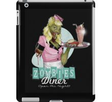 Eat out at the Zombie Diner  iPad Case/Skin