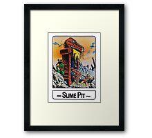 He-Man - Slime Pit - Trading Card Design Framed Print