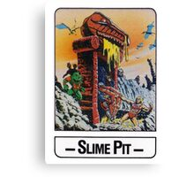 He-Man - Slime Pit - Trading Card Design Canvas Print