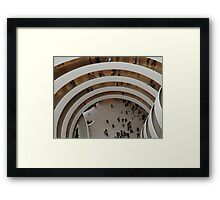 Looking Down at the Guggenheim Museum, Frank Lloyd Wright, Architect, New York City  Framed Print