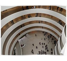 Looking Down at the Guggenheim Museum, Frank Lloyd Wright, Architect, New York City  Poster
