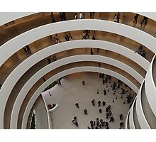 Looking Down at the Guggenheim Museum, Frank Lloyd Wright, Architect, New York City  Photographic Print