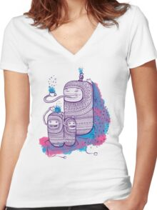 HANDS FREE TEA Women's Fitted V-Neck T-Shirt