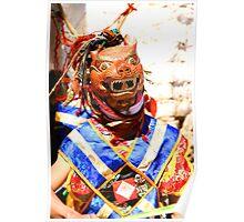 Masked Monk #2, Tashiling Festival, Eastern Himalayas, Central Bhutan Poster