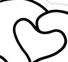 Mickey Heart Hands Sticker