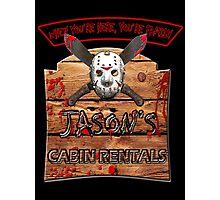 Jason's Cabin Rentals Photographic Print