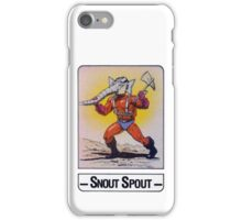 He-Man - Snout Spout - Trading Card Design iPhone Case/Skin