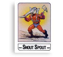 He-Man - Snout Spout - Trading Card Design Canvas Print