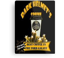 Dark Helmet's Coffee Metal Print