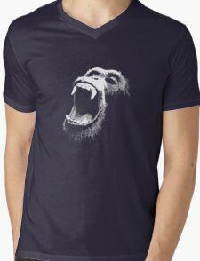 Primate Scream Mens V-Neck T-Shirt