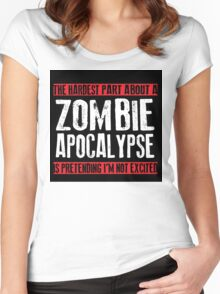 Zombie Apocalypse EXCITMENT Women's Fitted Scoop T-Shirt