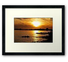 Sharing the light Framed Print