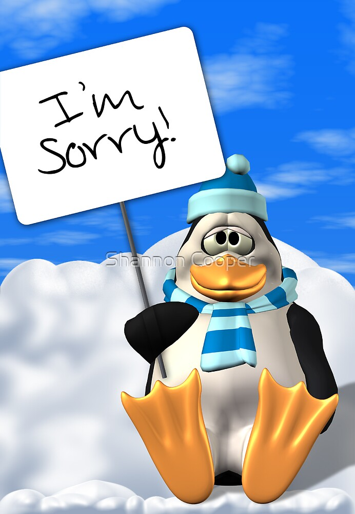 I'm Sorry Penguin Card by Shannon Beauford