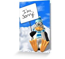 I'm Sorry Penguin Card Greeting Card