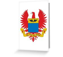 Coat of Arms of the Colombian Air Force  Greeting Card