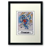 He-Man - Stonedar - Trading Card Design Framed Print