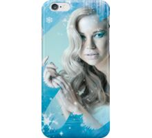 Snow Queen - Happy New Year & Merry Christmas postcard, wallpaper template iPhone Case/Skin